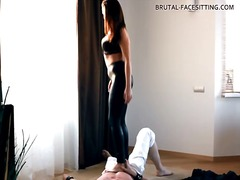 Chick in leather pants... video