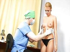 Young blonde babe gets...