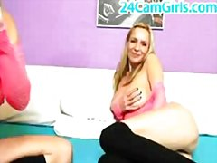 Redtube - Lesbians blonde on webcam