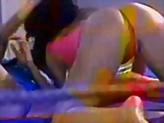 Naked females wrestle ... video