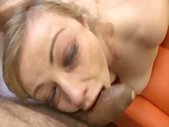 sloppy, gagging, spit, facial, blonde