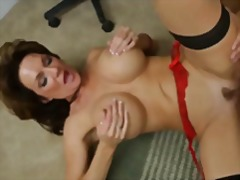 Hot big tits mature get fucked and fa...