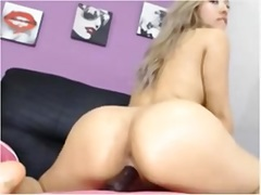 Adorable Latina and her anal dildo