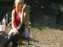 Filthy blonde smoking ... preview