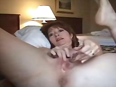 woman, hotel, mature, masturbation