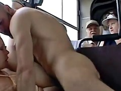 Couple fucks on a city bus... - 11:03