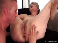 granny, oral, blowjob, lady, boy,