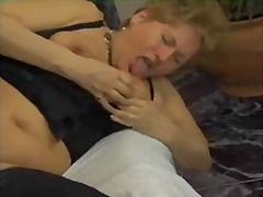 chubby, mature, anal, granny, nylons