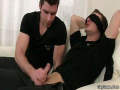 Alpha Porno Movie:Lucky blindfolded guy gets his...