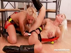 Alpha Porno Movie:Blondes in leather boots have ...