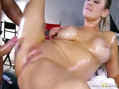 Pornoid Movie:Oiled abbey brooks is drilled ...