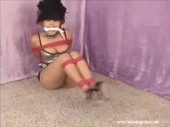 Ah-Me Movie:Ebony bondage babe and ballgag...