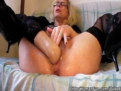 Perverted granny pushe... - Tube8