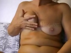 shaved, dildo, masturbation, granny,