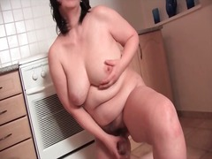 mature, bbw, masturbation, dildo,