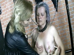 Alpha Porno Movie:Granny submits to dominatrix i...