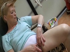 outdoors, granny, panties, masturbation,