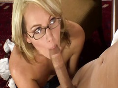 Beautiful secretary in... video