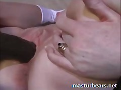 My creamy solo with large dildo laura...