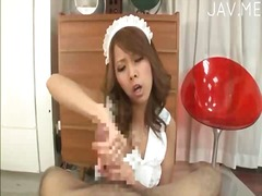 handjob, pov, japanese, uniform