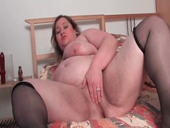 Fat girl plays with he... preview