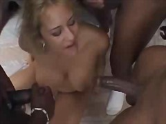 gangbang, big boobs, tits, interracial,