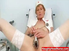 nurse, lady, hungry, mom, old, pussy