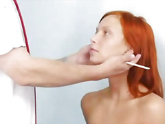 Slim redhead electra angels weird vagina exam