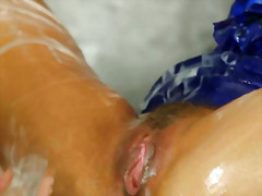 Pornstar babes at the gloryhole getting bukkake