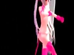 See: 3d girl in pink dancing