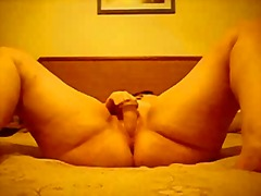Private Home Clips Movie:chubby orgasm on the bed 2