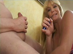 sucking, blonde, cumshot, blowjob, mature