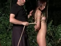 outdoors, asian, tits, bondage,
