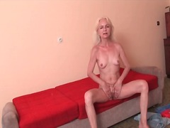Skinny grandma wants you to see her p...