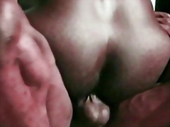 Ebony gets fucked outdoor