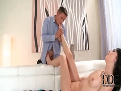 Long footjob from skin...