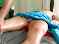 Thumb: Hard cock massage on r...
