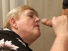 BBW Granny fucks young... video