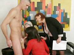 cumshot, group, mature, blowjob