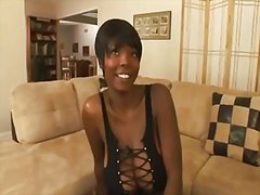Thick ebony gets two c... - Redtube