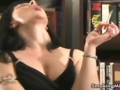 milf, solo, amateur, smoking, fetish,