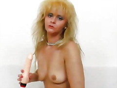 mature, blonde, mom, milf, fingering