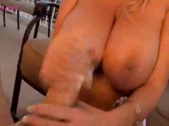 Blonde milf excited to suck on long schlong