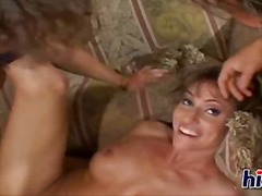 mature, big boobs, tits, threesome, boobs, facial, blonde