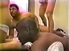 Private Home Clips Movie:Vintage Gangbang 1 -  Black an...