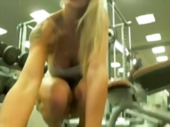 Exercise her cunt in the gym