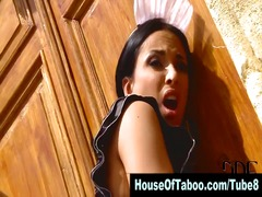 Lesbo domina spanks an... video