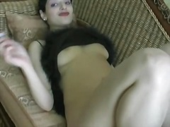 See: Brunette babe in sexy ...