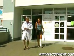 Old perv doc makes her...