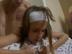 Provoking teen gets on... - Ah-Me